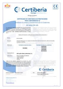LDA NEO sistema megafonía certificado EN 54-16