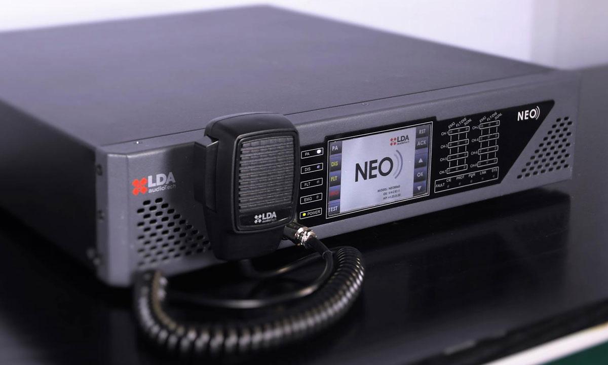 Sistema de megafonía y evacuación por voz NEO 8060