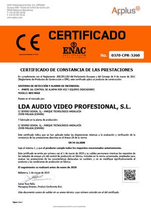 NEO-EN54-certificado-es