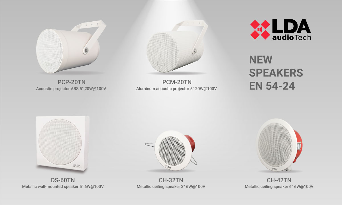 LDA Audio Tech new speakers EN 54-24 2020