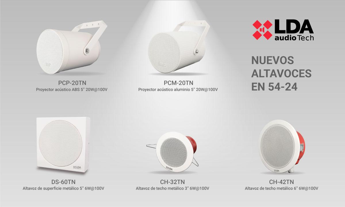 LDA Audio Tech nuevos altavoces EN 54-24 2020