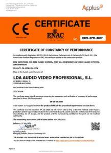 EN 54-24 certificate speakers CH-32TN CH-42TN